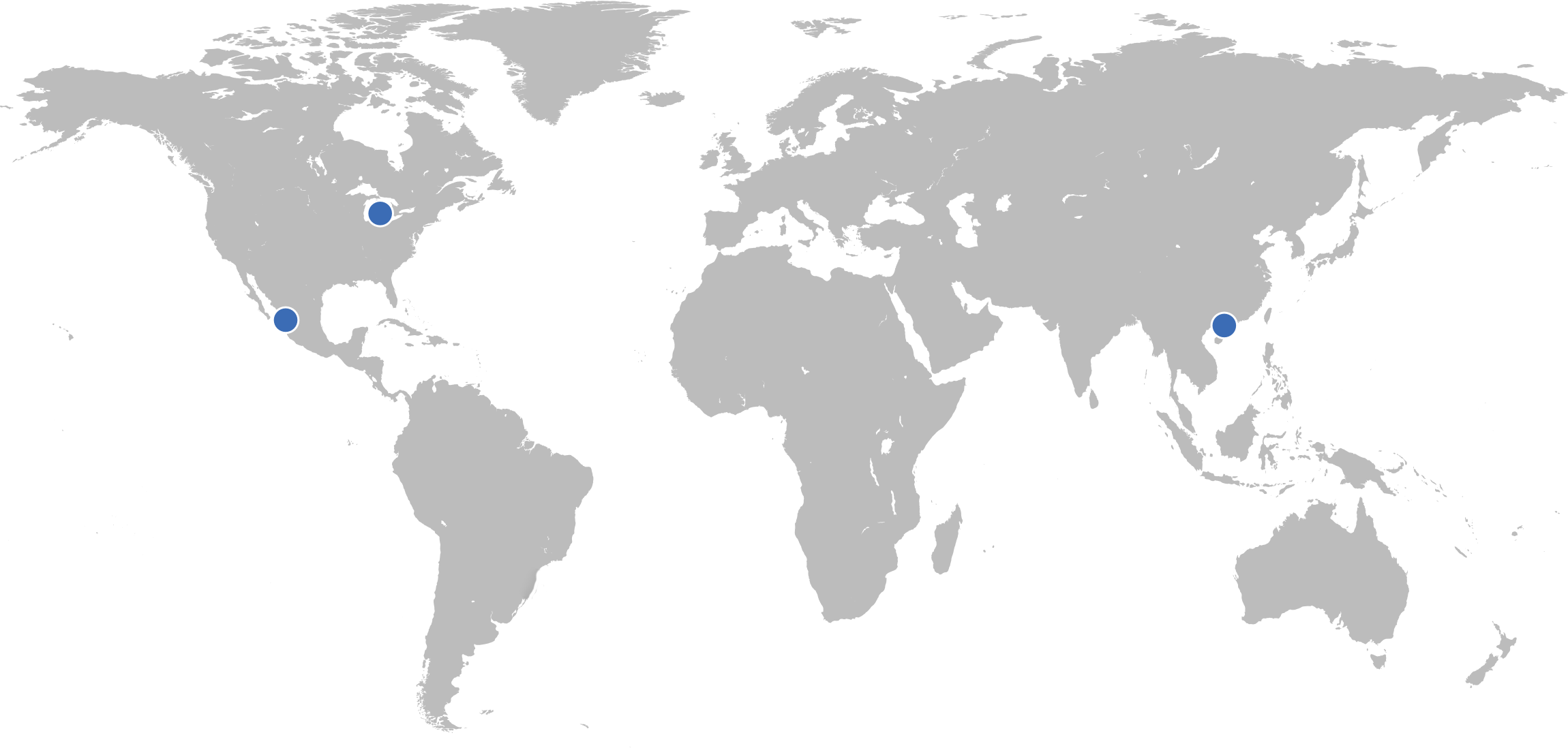 Map of all locations.