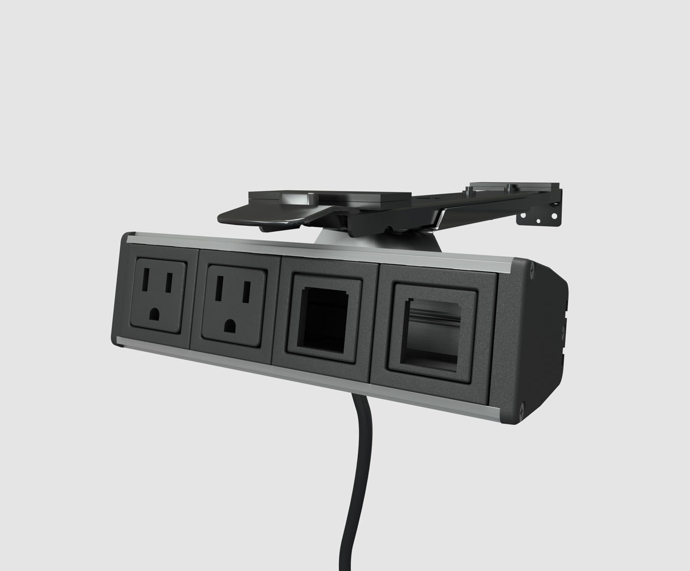 Assemble Reveal Under Desk Power Data Module Power Outlets - Conference table power and data modules