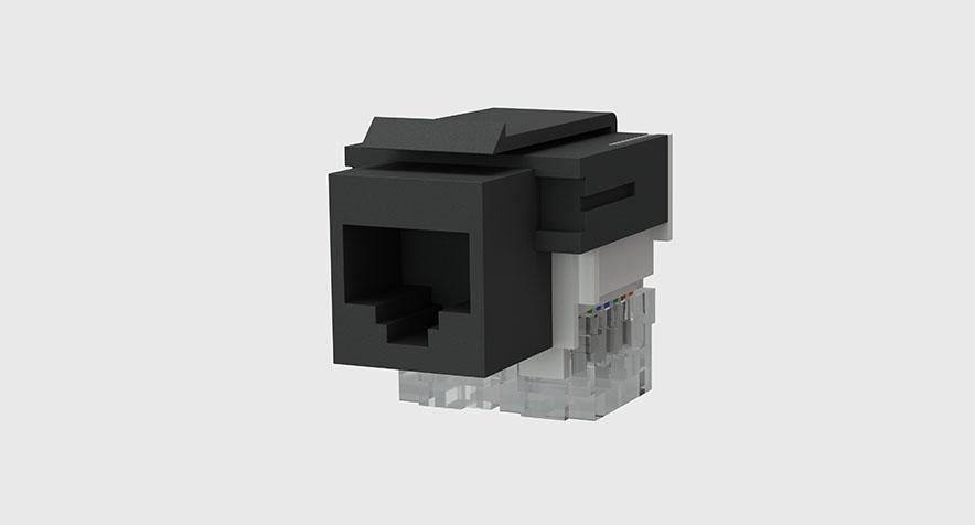 cat5e amp jack and network cable byrne electrical. Black Bedroom Furniture Sets. Home Design Ideas